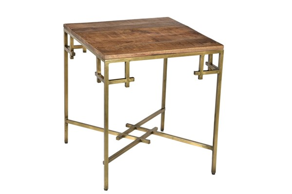 Crestview Collection Bengal Manor Aged Gold Square End Table CRST-CVFNR687