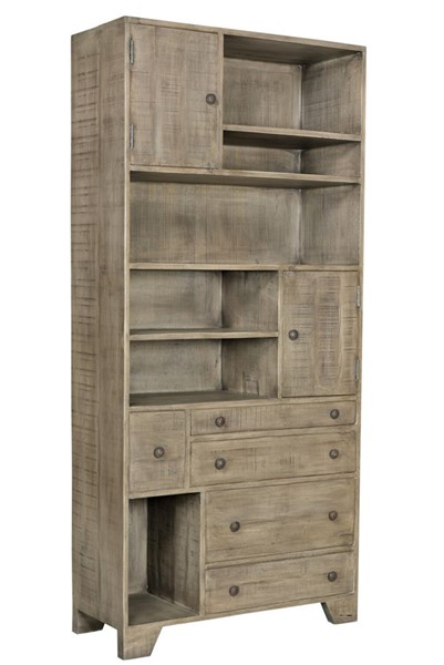 Crestview Collection Bengal Manor Distressed Grey Bookcase CRST-CVFNR693