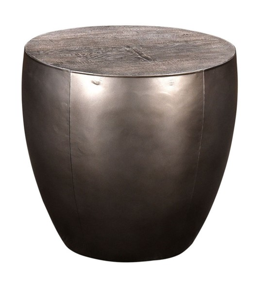 Crestview Collection Bengal Manor Distressed Grey Round End Table CRST-CVFNR710