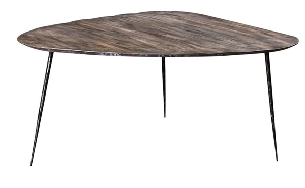 Crestview Collection Bengal Manor Distressed Grey Guitar Pick Cocktail Table CRST-CVFNR711