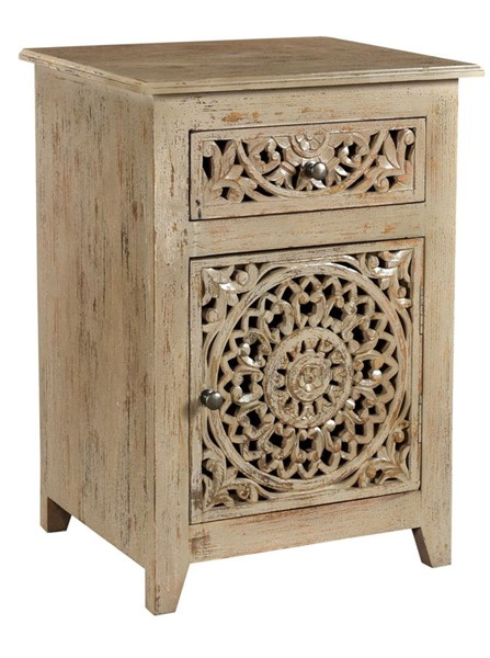 Crestview Collection Bengal Manor Distressed Grey Accent Cabinet CRST-CVFNR719