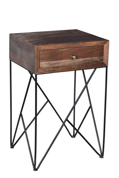 Crestview Collection Bengal Manor Brown Acacia Wood Accent Table CRST-CVFNR720