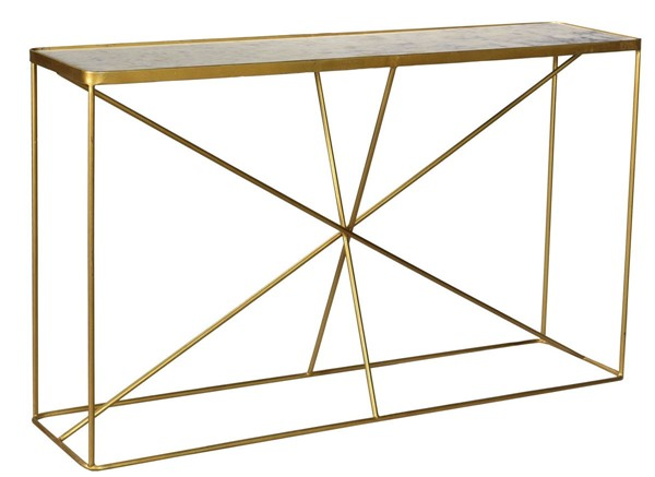 Crestview Collection Bengal Manor Antique Gold Console Table CRST-CVFNR729