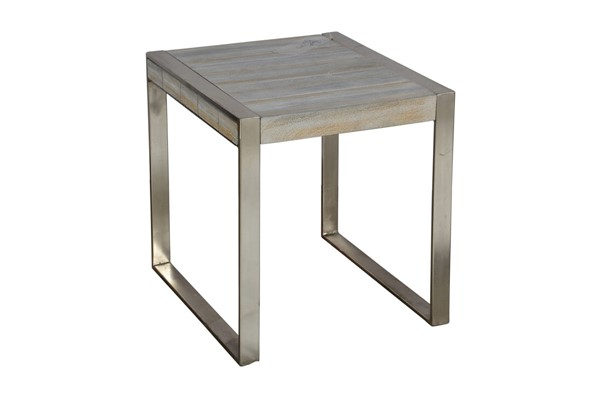 Crestview Collection Bengal Manor White Wash Mango Wood Rectangle End Table CRST-CVFNR733