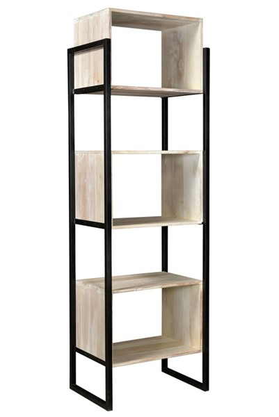 Crestview Collection Bengal Manor White Wash 3 Floating Boxes Etagere Bookcase CRST-CVFNR736