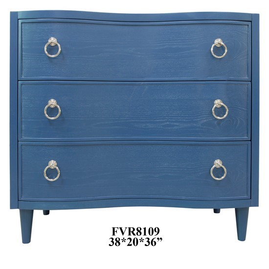 Crestview Collection Hawthorne Estate Blue 3 Drawers Chest CRST-CVFVR8109
