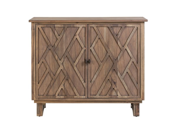 Crestview Collection Hawthorne Estate Chippendale Fretwork Cabinet CRST-CVFVR8135