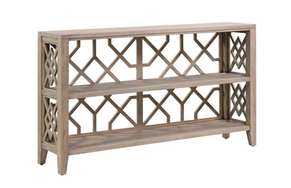 Crestview Collection Hawthorne Estate Dayton Fretwork Console Table CRST-CVFVR8139