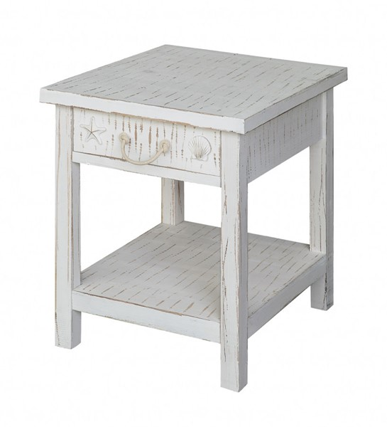 Crestview Collection White Seaside End Table CRST-CVFZR1521