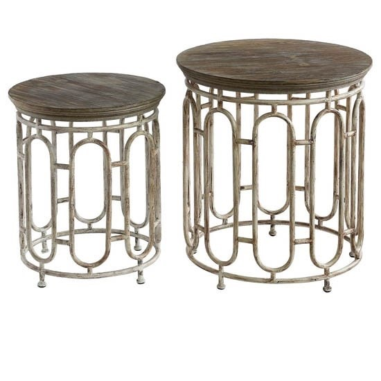 Crestview Collection Allyson Metal 2pc Nesting Table CRST-CVFZR2275