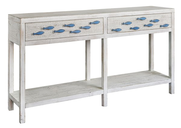Crestview Collection Swimming Antique White Upstream Console Table CRST-CVFZR3583