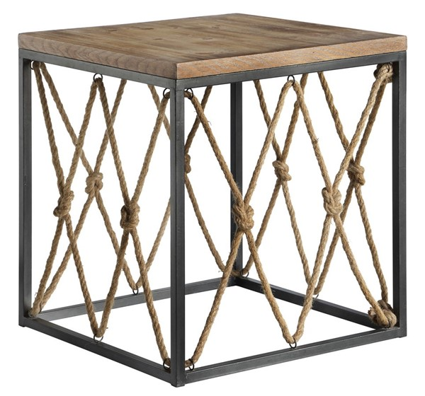 Crestview Collection Bar Harbor Rope End Table CRST-CVFZR4084