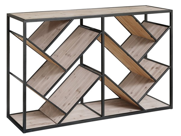 Crestview Collection Seville Wood Angled Console Table CRST-CVFZR4094