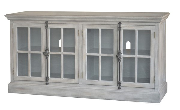 Crestview Collection Harrison Light Grey Wash Media Console Table CRST-CVFZR5052