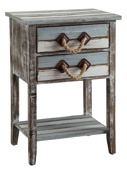 Crestview Collection Nantucket Weathered Drawer Accent Table CRST-CVFZR693
