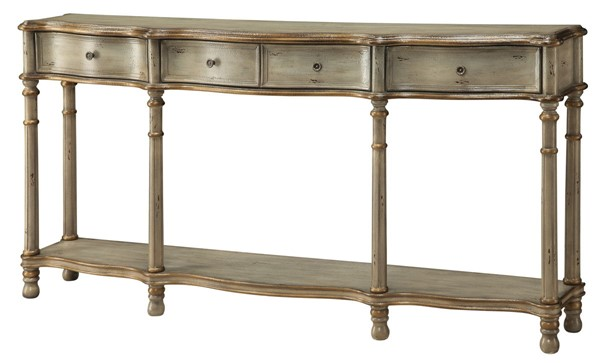 Crestview Collection Victoria 3 Drawers Console Table CRST-CVFZR912