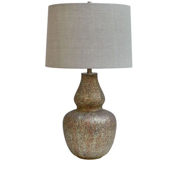Crestview Collection Holder Taupe Natural Table Lamp CRST-CVIDZA006