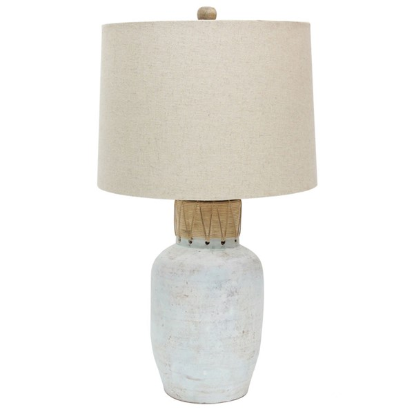 Crestview Collection Isla Cane White Washed Natural Wrapping Table Lamp CRST-CVIDZA040