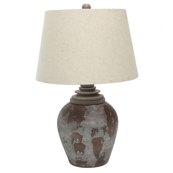 Crestview Collection Paulo Stone Washed Natural Table Lamp CRST-CVIDZA041
