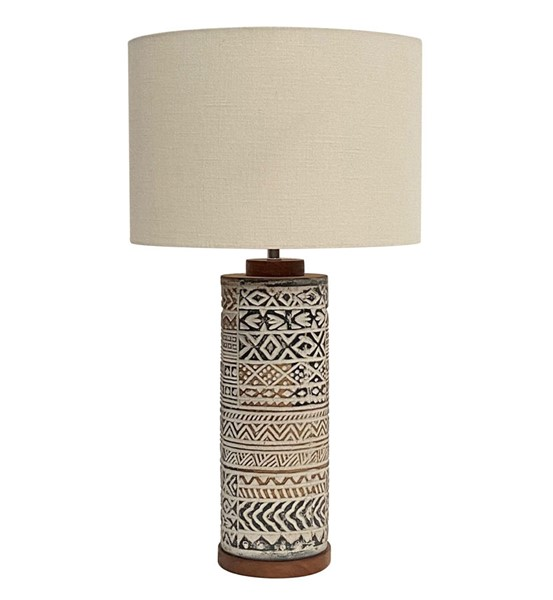 Crestview Collection Taos Terracotta Natural Table Lamp CRST-CVIDZA064