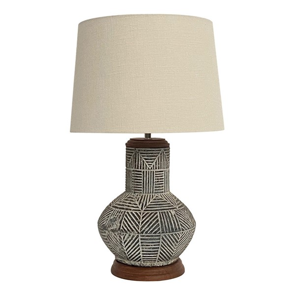 Crestview Collection Monterey Stone Washed Natural Table Lamp CRST-CVIDZA065