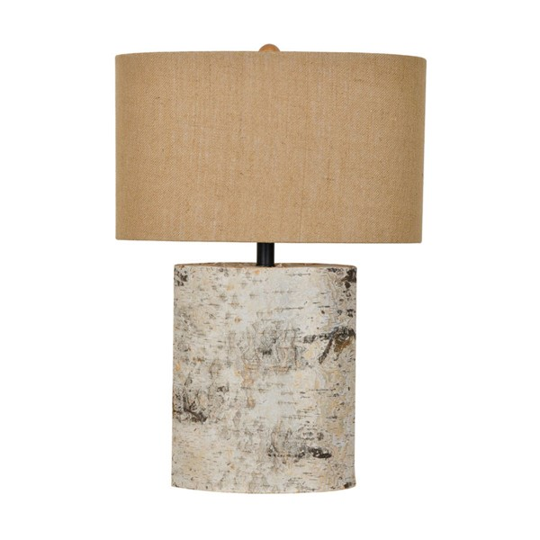 Crestview Collection Burlap Birch Wood Table Lamp CRST-CVLY1913