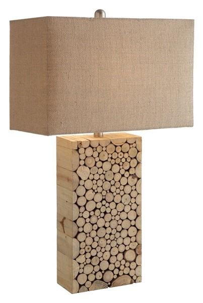 2 Crestview Collection Stacked Burlap Table Lamps CRST-CVLY1920