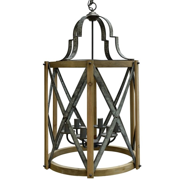 Crestview Collection Huntington Rustic Pendant Lamp CRST-CVPDA029