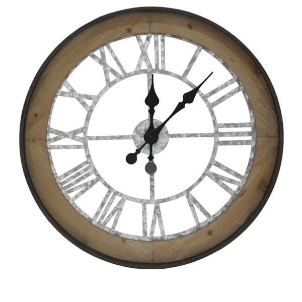 Crestview Collection Farm Time Clock Wall Art CRST-CVTCK1169