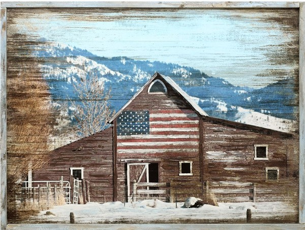 Crestview Collection Patriot Barn Wall Art CRST-CVTOP2548