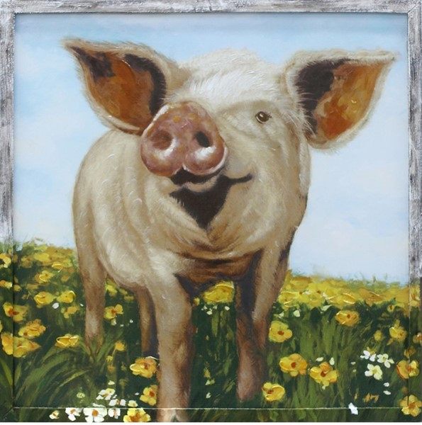 Crestview Collection Mini Pig Out Wall Art CRST-CVTOP2623