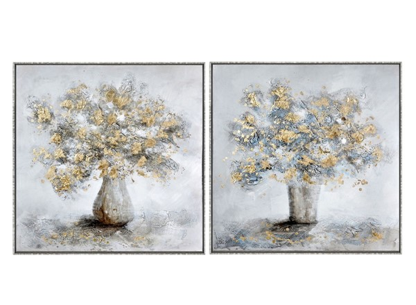 Crestview Collection Silver Blossoming 2pc Wall Art CRST-CVTOP2694