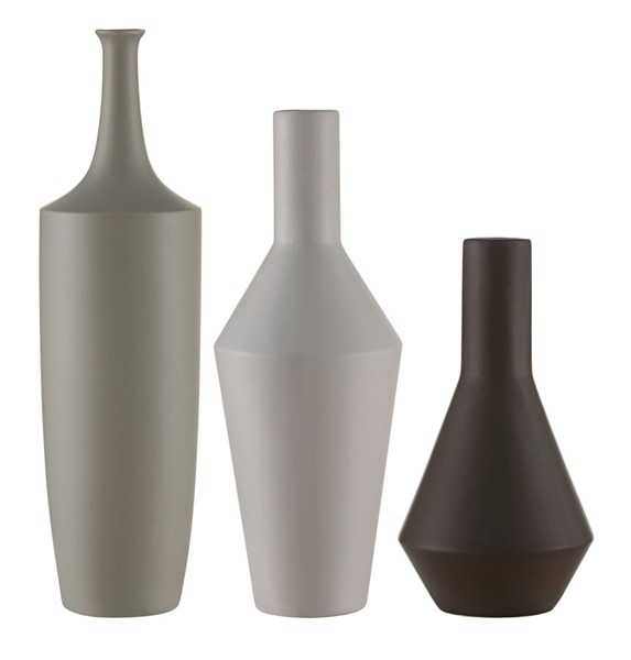 Crestview Collection Zen Japanese Taupe White Charcoal 3pc Bowl Set CRST-CVVZSA011
