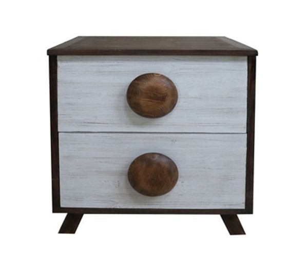 Crestview Collection Wooden 2 Drawers Cabinet CRST-FZR3092