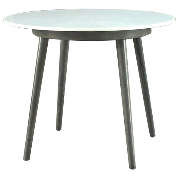 Crestview Collection Wilshire Gray Wash Marble Dining Table CRST-FZR3736