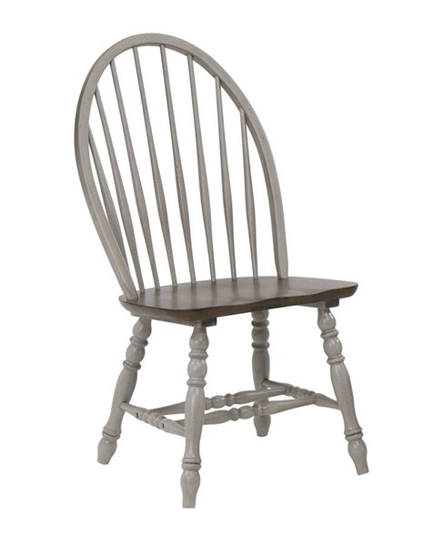 2 Crown Mark Jack Grey Side Chairs CRW-1054S-ASSEMBLED