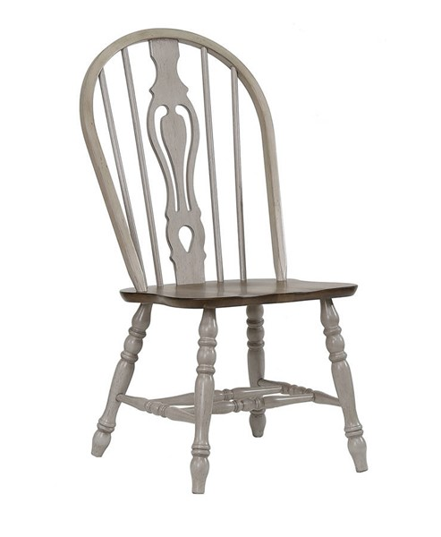 2 Crown Mark Jack Grey Keyhole Chairs CRW-1055S-ASSEMBLED