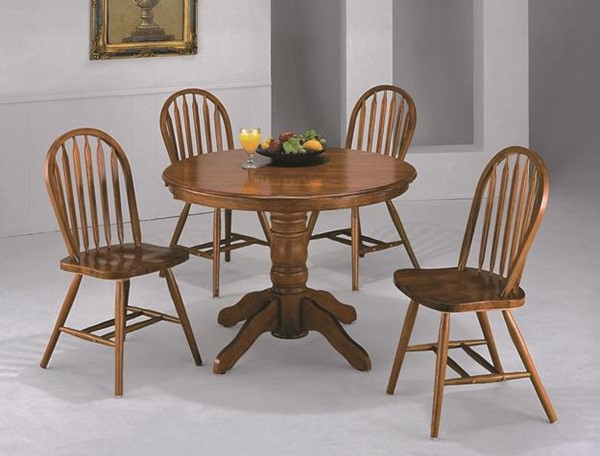 4 Crown Mark Arrow Back Windsor Chairs CRW-2305D-OAK-RTA