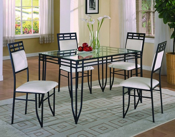 Crown Mark Matrix Black Wrinkle Table Set CRW-1116set