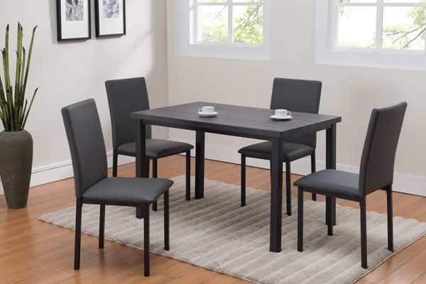 Crown Mark Orlo Sandy Black Dining Set CRW-1272set