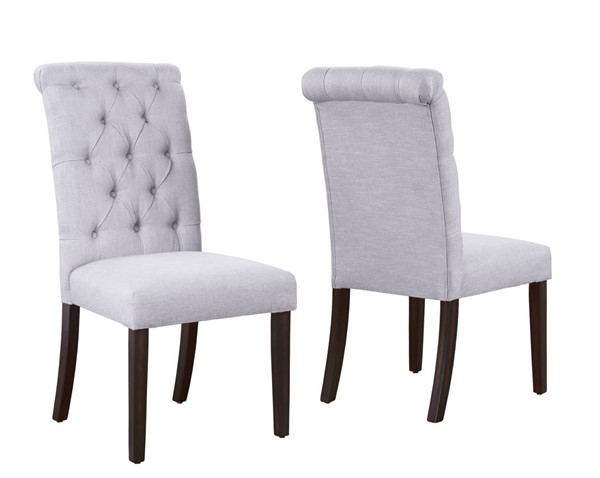 2 Crown Mark Palmer White Dining Side Chairs CRW-2021S