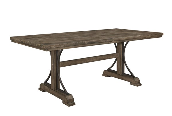 Crown Mark Quincy Brownish Khaki Rectangle Dining Table CRW-2131T-4079
