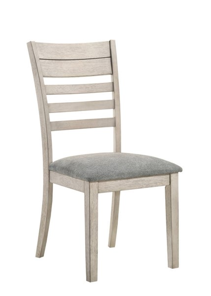 2 Crown Mark White Sands Wood Side Chairs CRW-2132S