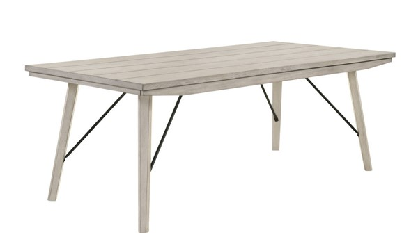 Crown Mark White Sands Wood Dining Table CRW-2132T-4079