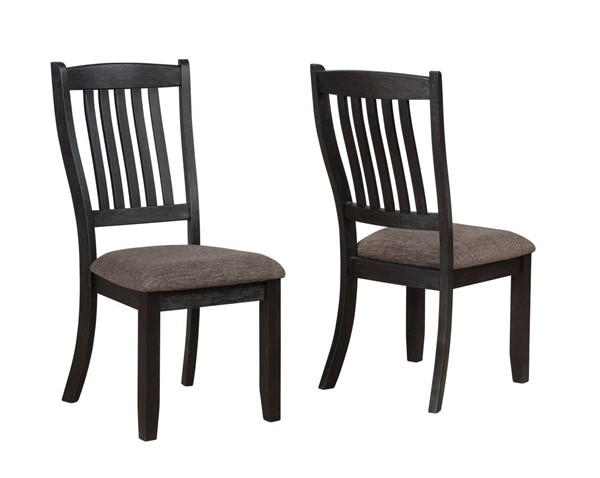 2 Crown Mark Jorie Slat Back Dining Chair CRW-2142S