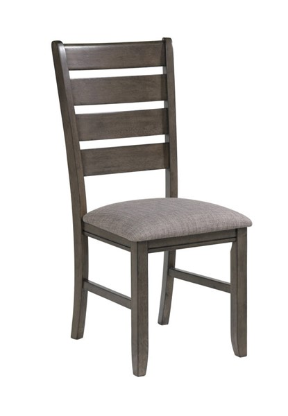 2 Crown Mark Bardstown Grey Side Chairs CRW-2152GY-S-N