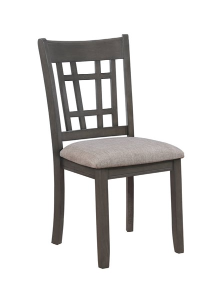 2 Crown Mark Hartwell Grey Side Chairs CRW-2195GY-S