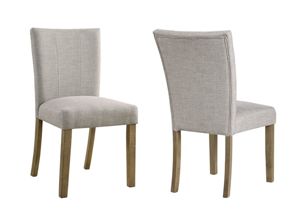 2 Crown Mark Mike Grey Side Chairs CRW-2222S