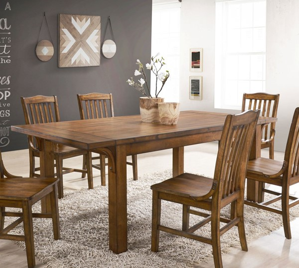 Crown Mark Lucille Oak Dining Table CRW-2286T-4078