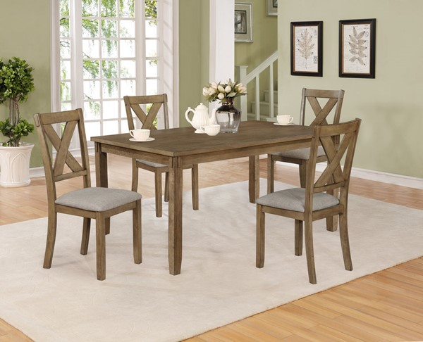 Crown Mark Clara Wheat Dining Set CRW-2321WT-SET